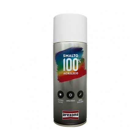AREXONS SMALTO ACRILICO BIANCO OPACO SPRAY 400 ML