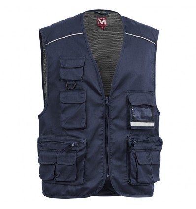 MYDAY POWER GILET DA LAVORO CON PORTABADGE NAVY