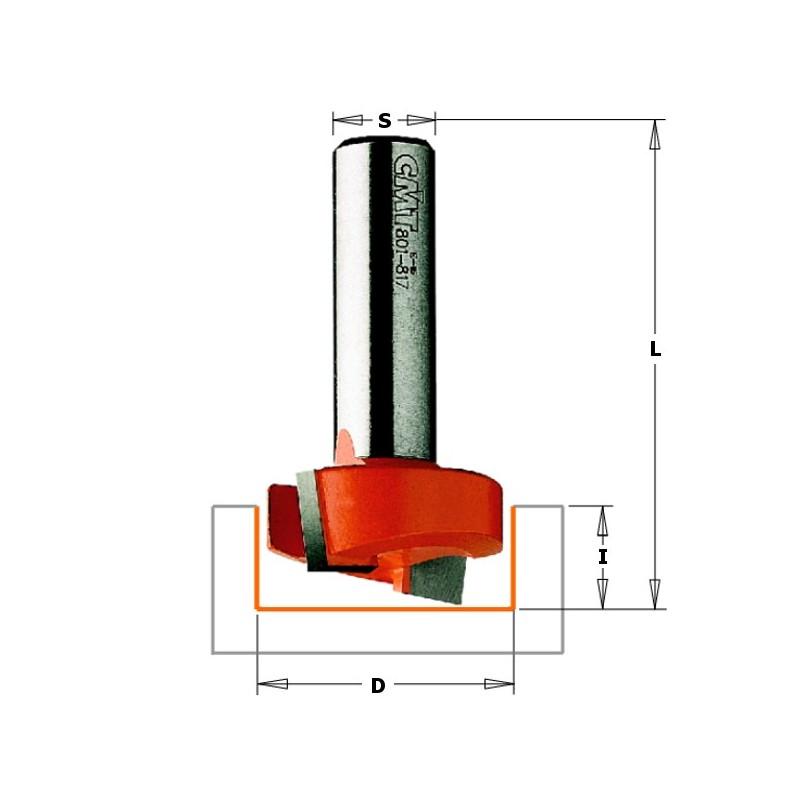 CMT 901.127.11 FRESA PER LEGNO PER MORTASARE DxS12,7x8mm